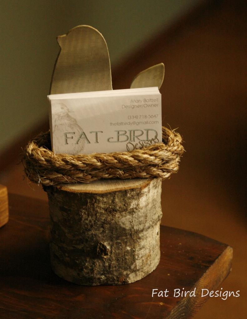 Bird Nest Card Holder