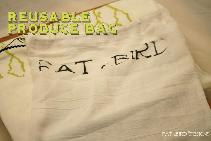 Handmade produce bag
